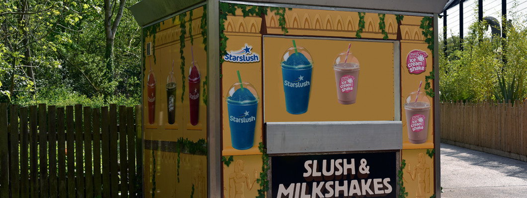 StarSlush Kiosk Wrap at Chessington World of Adventure