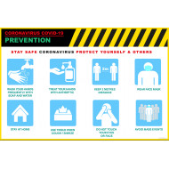COVID-19 Prevention Poster Prints